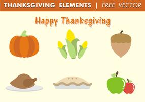 Thanksgiving elementen gratis vector