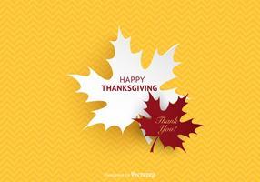 Gratis Gelukkige Thanksgiving Vector Achtergrond