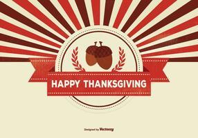 Retro Thanksgiving Achtergrond Illustratie vector