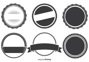 Geassorteerde Badge Shapes Set vector