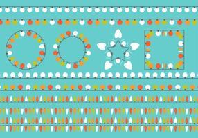 Eenvoudige Vlakke Kleurrijke Kerstlichtvectoren