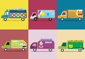 Diverse Food Truck vector