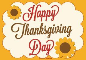 Thanksgiving Achtergrond Illustratie
