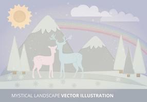 Mystieke Landschap Vectorillustratie vector
