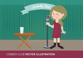 Komedie Club Vectorillustratie
