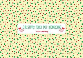 Kerstmis Polka Dot Pattern Achtergrond vector
