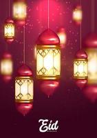 eid mubarak ontwerp achtergrond vector