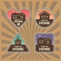 blijf thuis sticker set