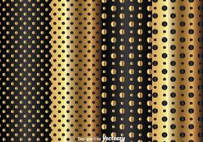 Goud En Zwart Stippelpatroon vector