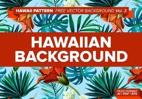 Hawaiiaanse Patroon Gratis Vector Achtergrond Vol. 3