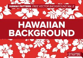 Hawaiiaanse Patroon Gratis Vector Achtergrond Vol. 2