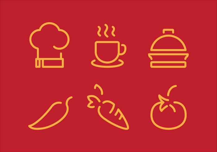 Vektor matlagning Stuff ikonuppsättning