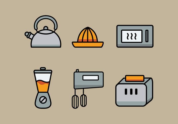 Vector Küchenutensilien Illustration Set