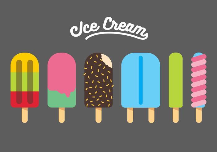 Vektor Ice Cream Illustration Set