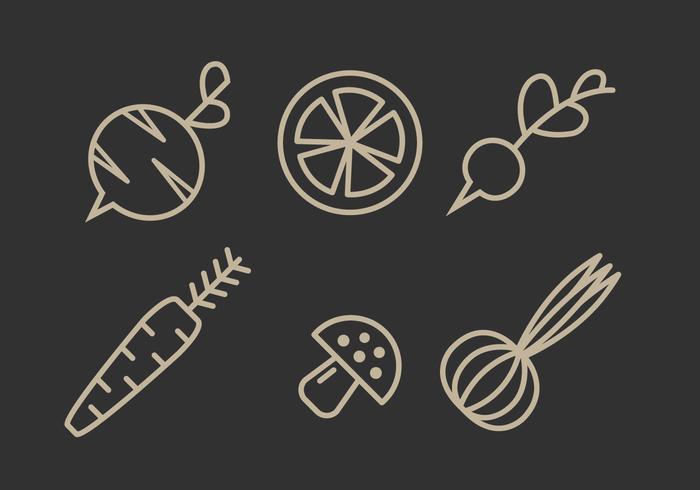 Vektor Gemüse Illustration Set