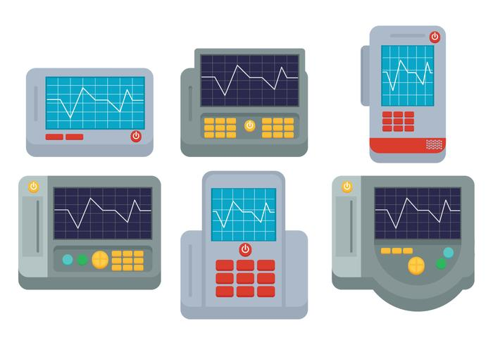 EKG Maschinenvektor vektor