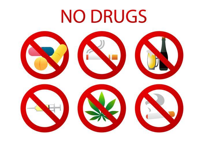 Keine Drogen Vektoren
