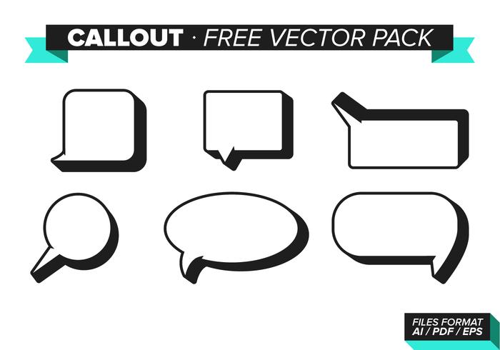 Callout Gratis Vector Pack