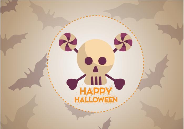 Gratis Skull Bats Halloween Vector