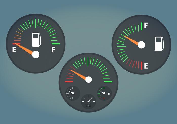 Bränslemätare Vektorillustration vektor