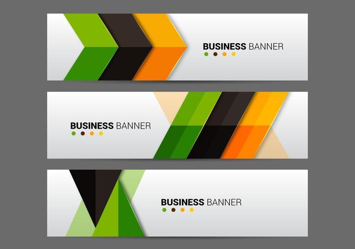 Gratis affärer banner vektor