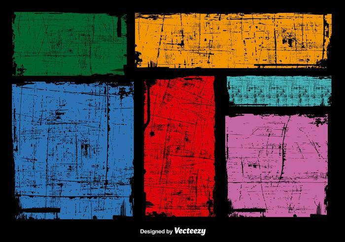 Grunge färgstarka banderoller vektor