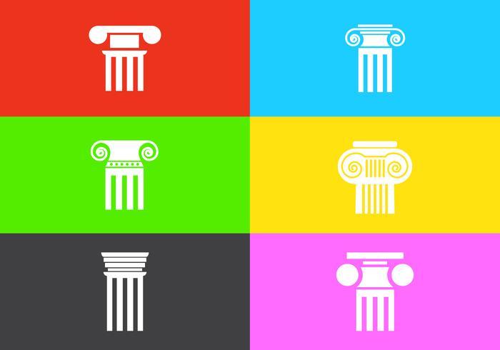 Vector Reihe von römischen Säulen