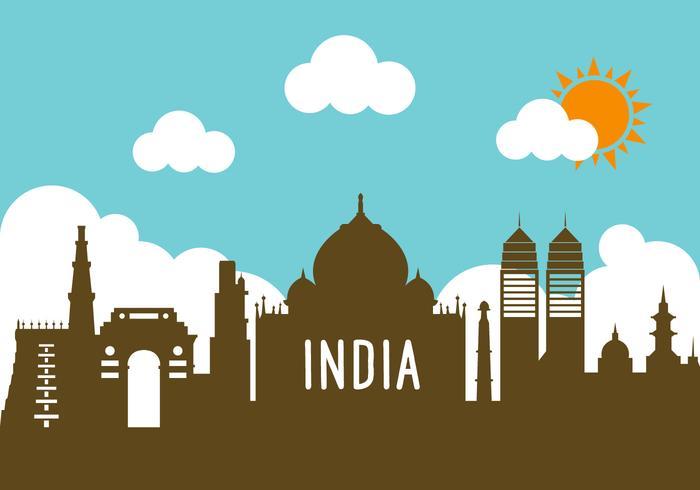 Indien Landschaft in Vektor