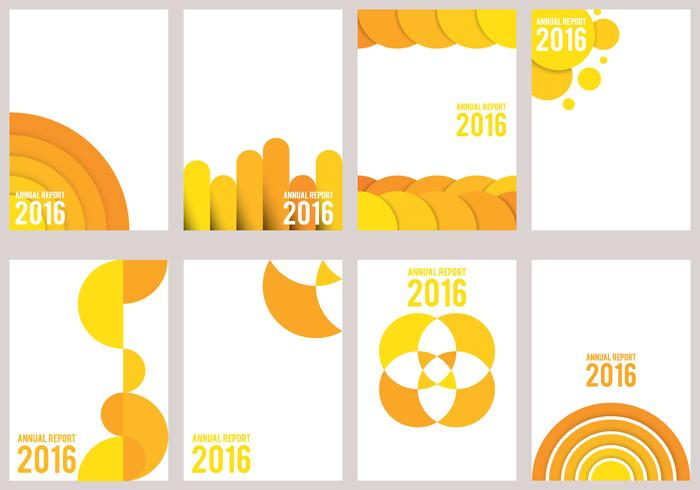 Gelber Jahresbericht Design vektor