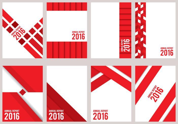 Röd årlig rapport design vektor
