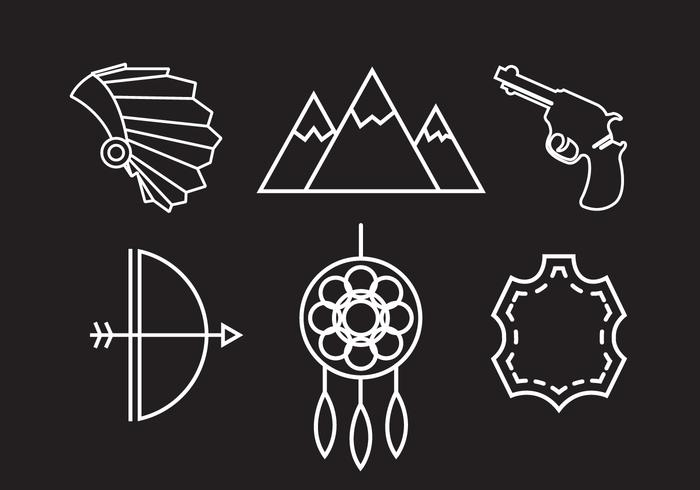 Wild West Vektor Icons