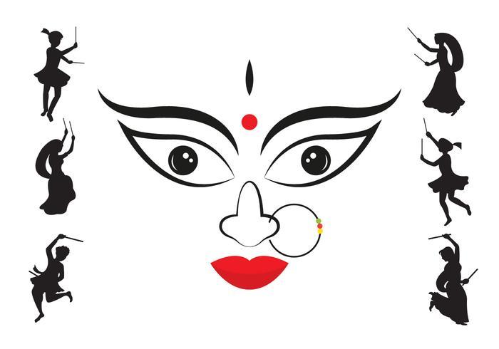 Vektor illustration av Navratri