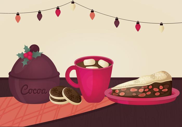 Weihnachten Essen Vektor-Illustration vektor