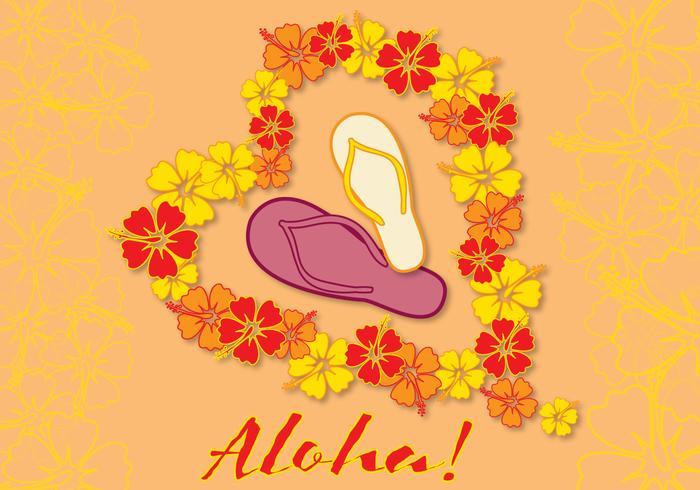 Karte Aloha Liebe vektor