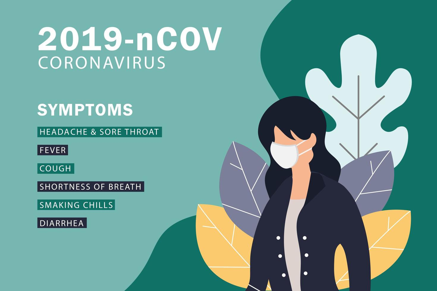 coronavirus covid-19 eller 2019-ncov design vektor