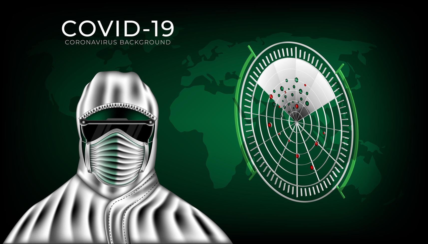 Schutzkleidung zum Schutz vor Coronavirus 2019- ncov. vektor
