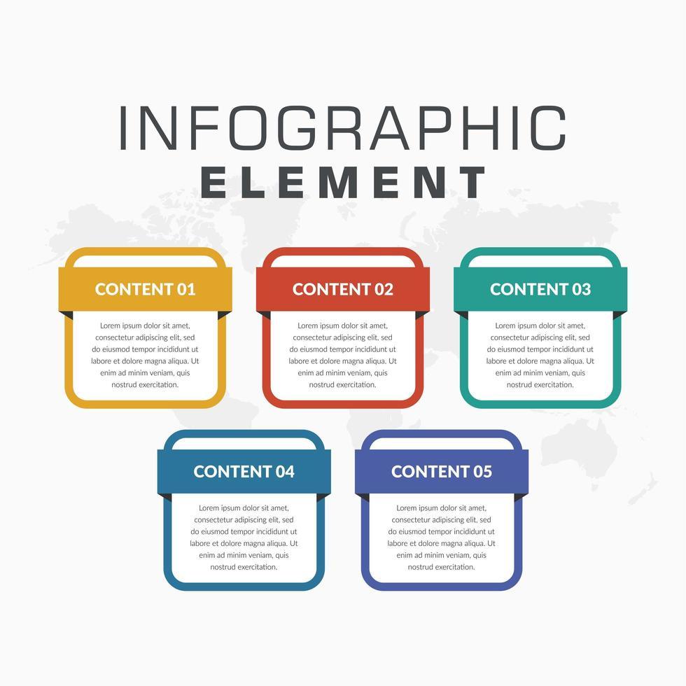 färgglada infographic element design för affärsstrategi vektor