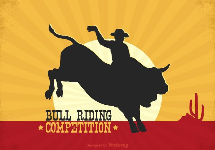 Free Rodeo Bull Rider Vektor Poster