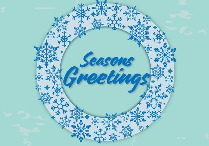 Gratis årstider hälsningar vektor