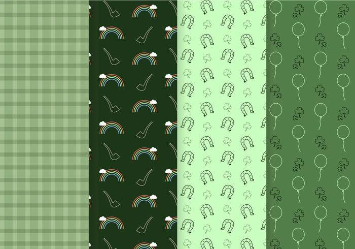 Freier St Patrick Pattern Vektor