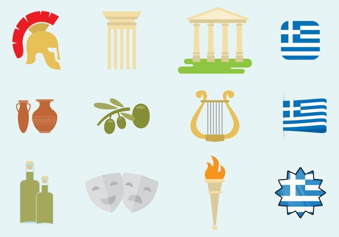 Grekland ikoner vektor