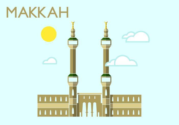Makkah Minimalistische Illustration vektor