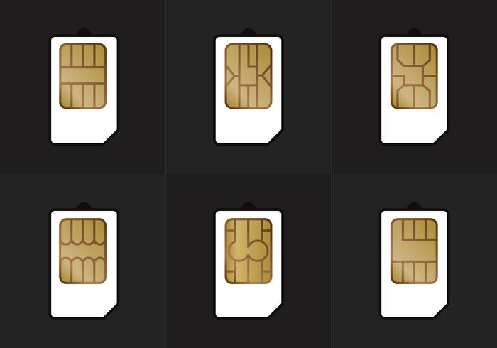 SIM-Kartenarten Vektor