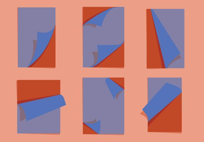 Seite Flip-Vektoren vektor
