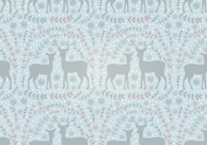 Vector Holiday Deer Nahtlose Muster