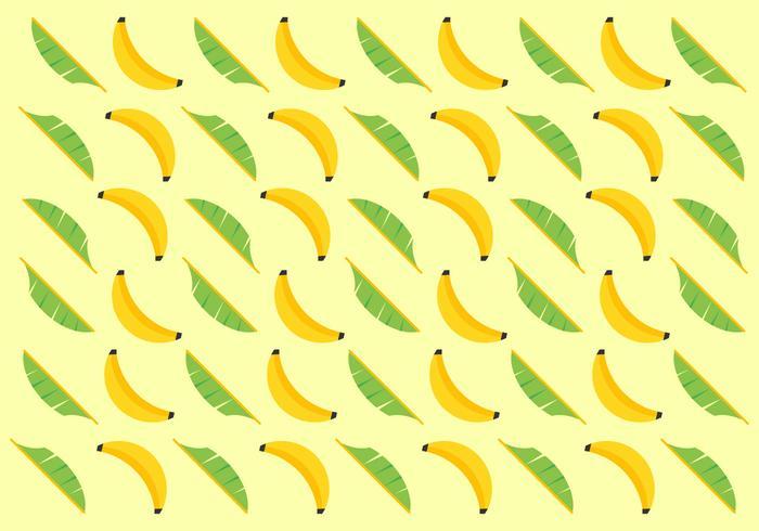 Free Banana Blätter Vektor Muster