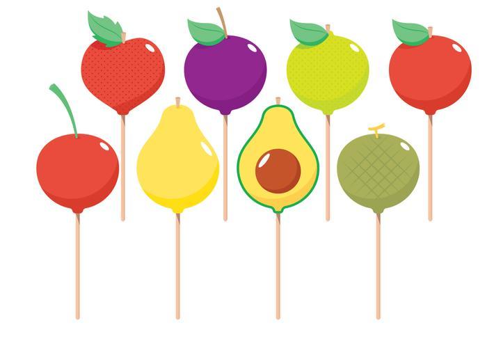 Fruktkaka pops vektor