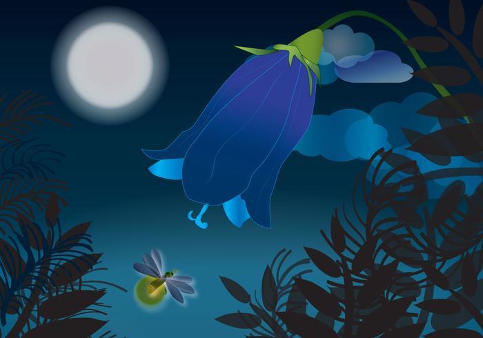 Vacker Firefly Nights Vector