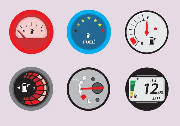 Kraftstoffanzeige für Automobile vektor