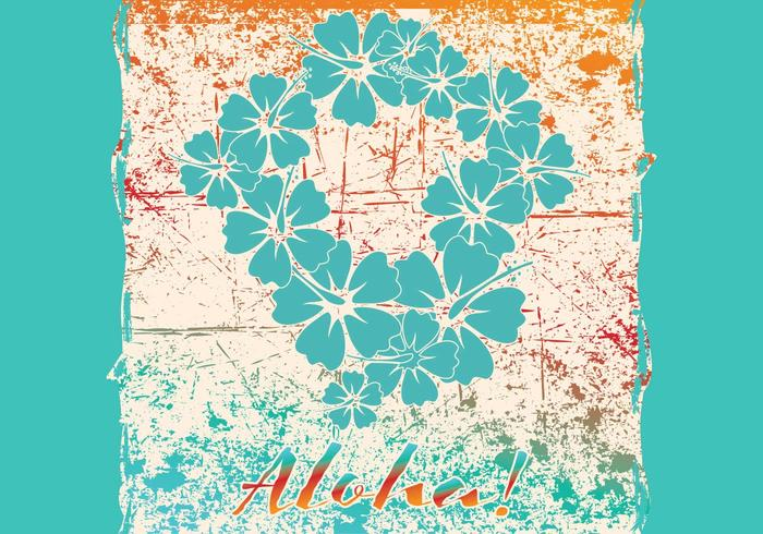 Karte Aloha vektor